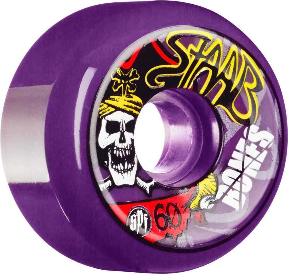 Bones SPF Pro Staab Pirate II - Purple - 60mm 84b - Skateboard Wheels (Set of 4)