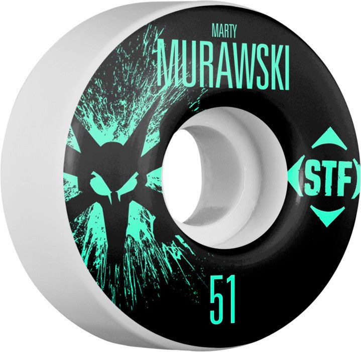 Bones STF V1 Pro Murawski Team Splat - White - 51mm 83b - Skateboard Wheels (Set of 4)