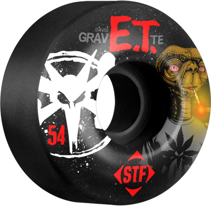 Bones STF V3 Gravette Burn ET - Black - 54mm - Skateboard Wheels (Set of 4)