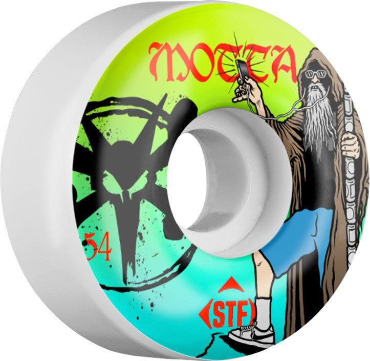 Bones STF V3 Motta Hermit - White - 54mm - Skateboard Wheels (Set of 4)