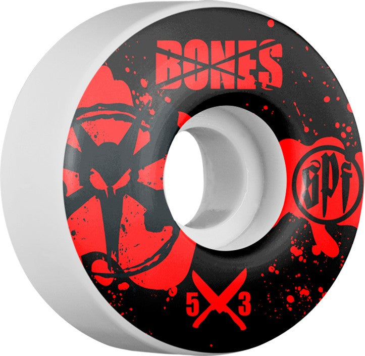 Bones SPF V1 Crime Scene - White - 53mm - Skateboard Wheels (Set of 4)