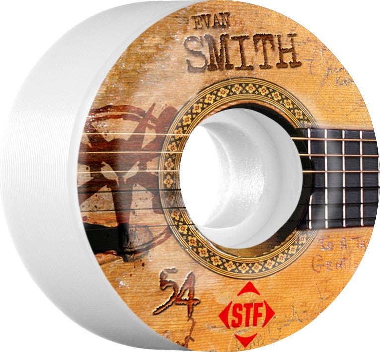 Bones STF V1 Smith Strummer - White - 54mm 83b - Skateboard Wheels (Set of 4)