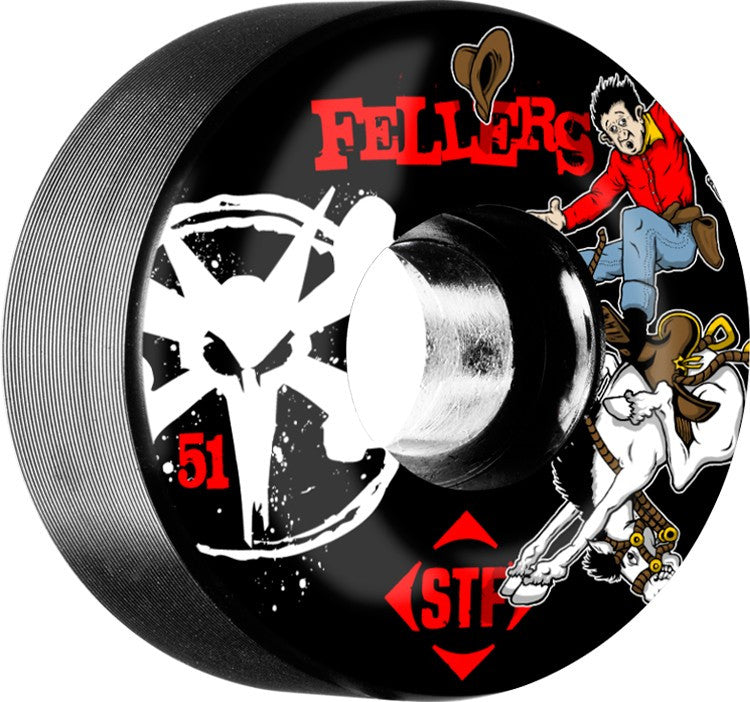 Bones STF V2 Sierra Bronco - Black - 51mm 83b - Skateboard Wheels (Set of 4)