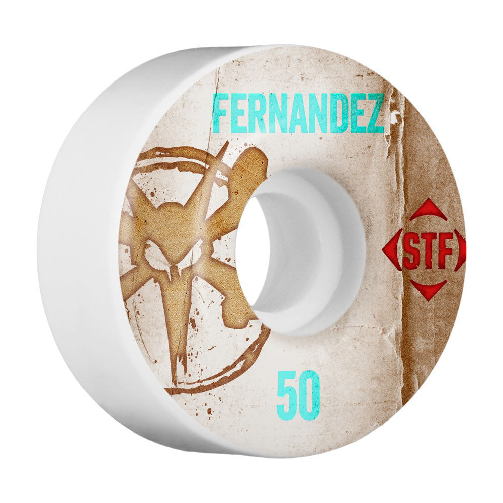 Bones STF Pro Fernandez Vintage V1 - White - 50mm - Skateboard Wheels (Set of 4)