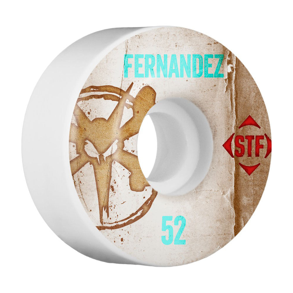 Bones STF Pro Fernandez Vintage V1 - White - 52mm - Skateboard Wheels (Set of 4)