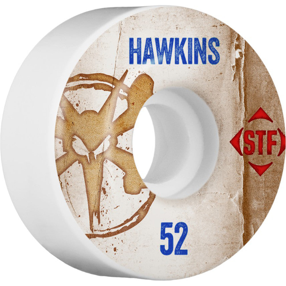 Bones STF Pro Hawkins Vintage V1 - White - 52mm - Skateboard Wheels (Set of 4)