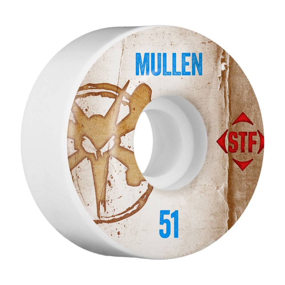 Bones STF Pro Mullen Vintage V2 - White - 51mm - Skateboard Wheels (Set of 4)