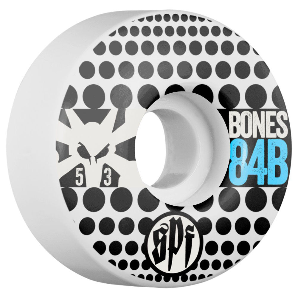 Bones SPF Dotty V1 - White - 53mm - Skateboard Wheels (Set of 4)