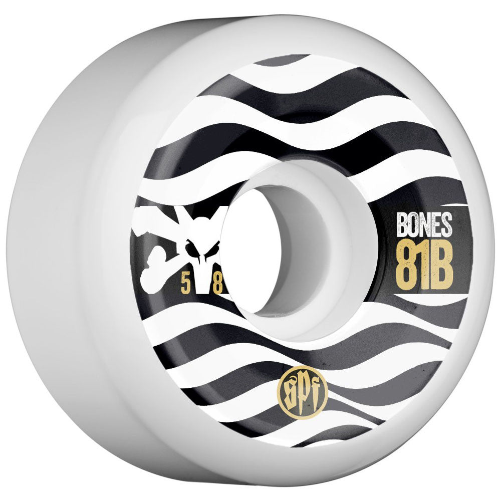 Bones SPF Eighty Ones - White - 58mm - Skateboard Wheels (Set of 4)