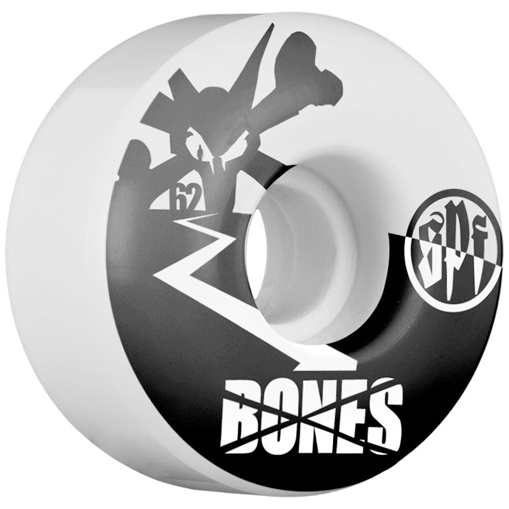 Bones SPF Too Tone - White - 62mm - Skateboard Wheels (Set of 4)