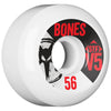Bones STF V5 Series - White - 56mm 83b - Skateboard Wheels (Set of 4)