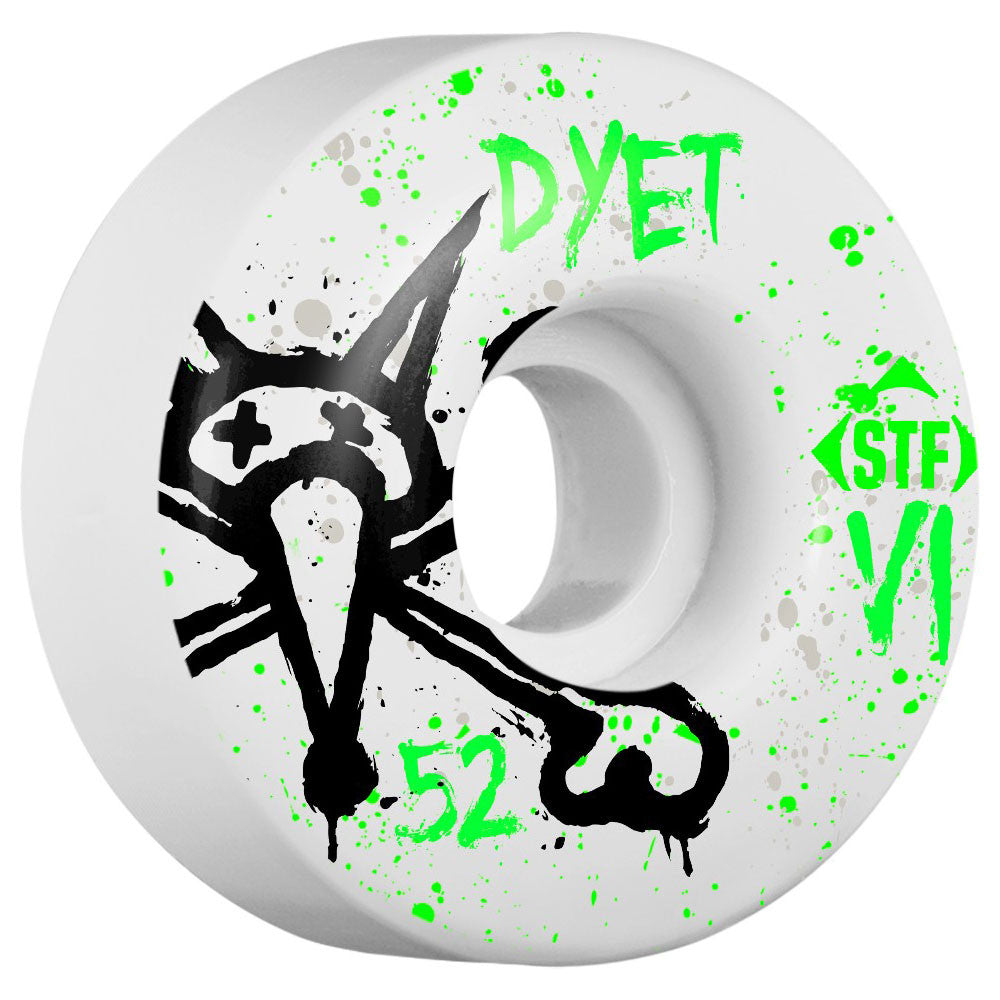 Bones STF Dyet Vato Op V1 - White - 52mm - Skateboard Wheels (Set of 4)