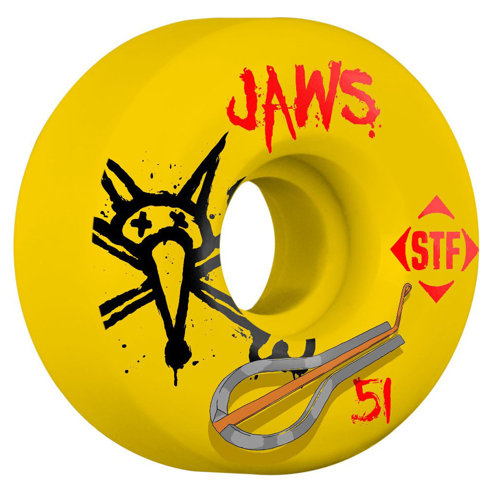 Bones STF Homoki Harp V2 - Yellow - 51mm - Skateboard Wheels (Set of 4)