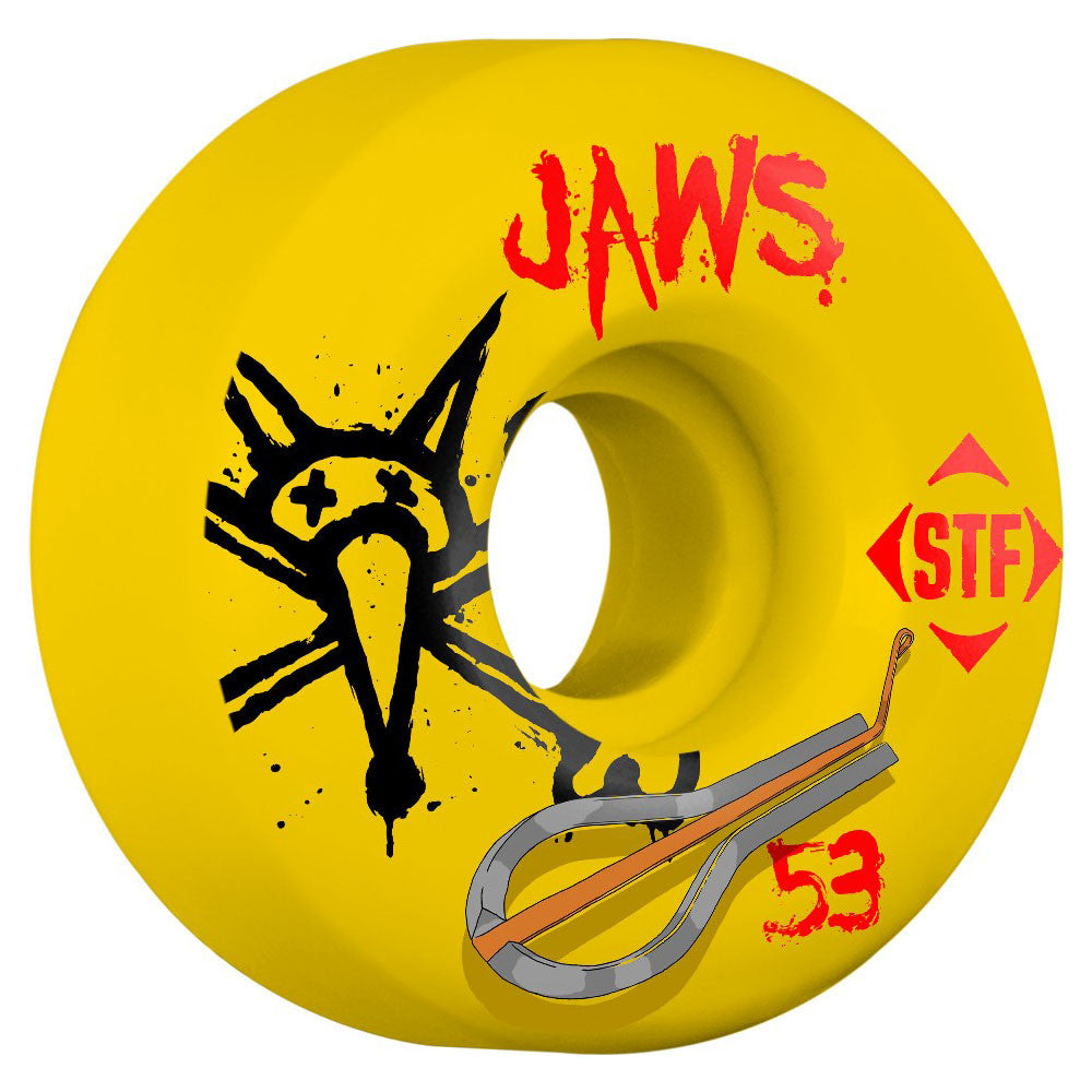 Bones STF Homoki Harp V2 - Yellow - 53mm - Skateboard Wheels (Set of 4)