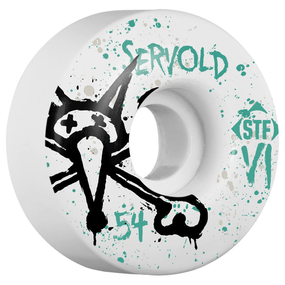 Bones STF Servold Vato Op V1 - White - 54mm - Skateboard Wheels (Set of 4)