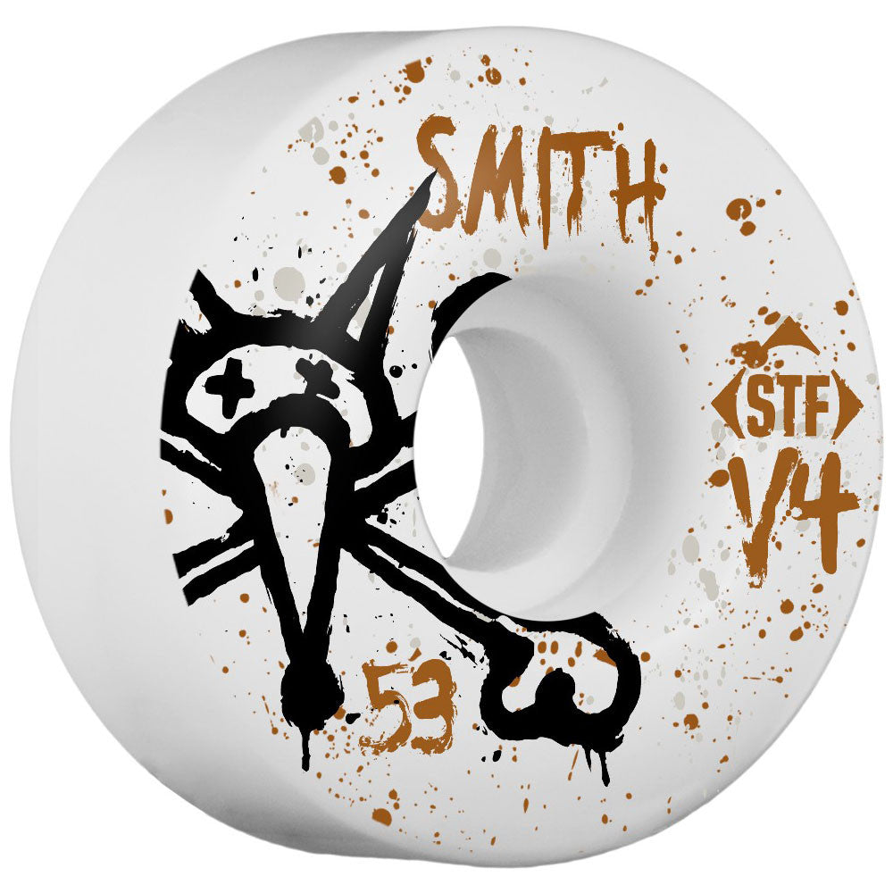 Bones STF Smith Vato Op V4 - White - 53mm - Skateboard Wheels (Set of 4)