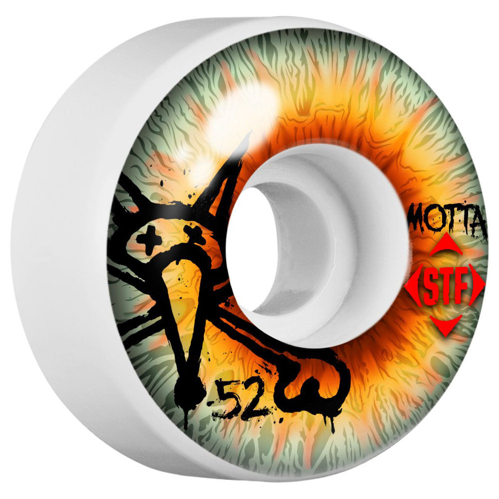 Bones STF Motta Retna V3 - White - 52mm - Skateboard Wheels (Set of 4)