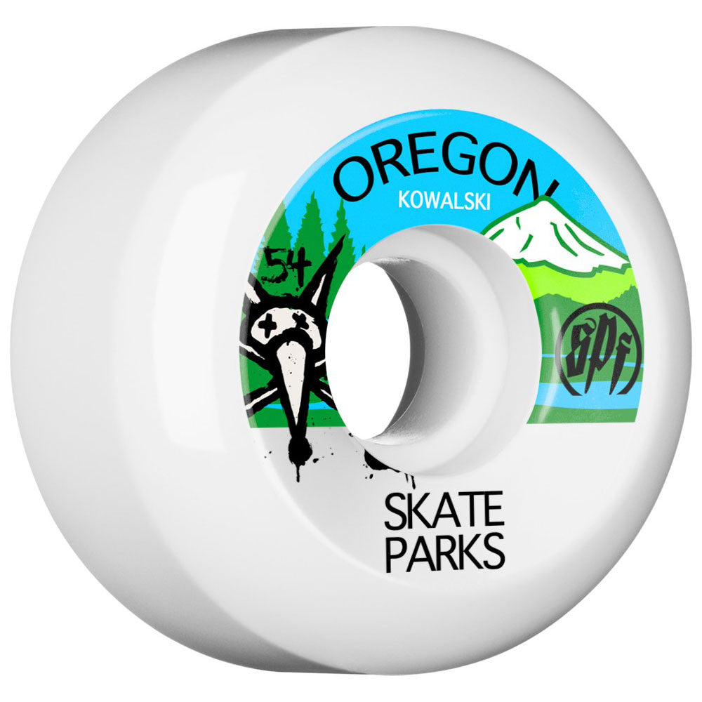 Bones SPF Kowalski Parks - White - 54mm - Skateboard Wheels (Set of 4)