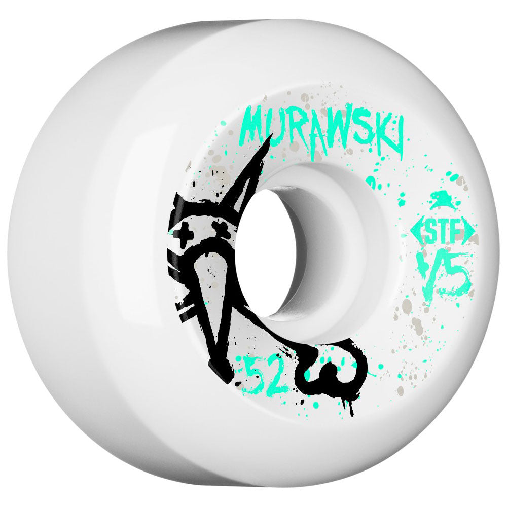 Bones STF Murawski Vato Op V5 - White - 52mm - Skateboard Wheels (Set of 4)