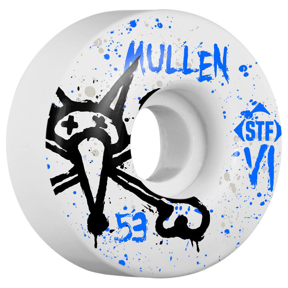 Bones STF Mullen Vato Op V2 - White - 53mm - Skateboard Wheels (Set of 4)