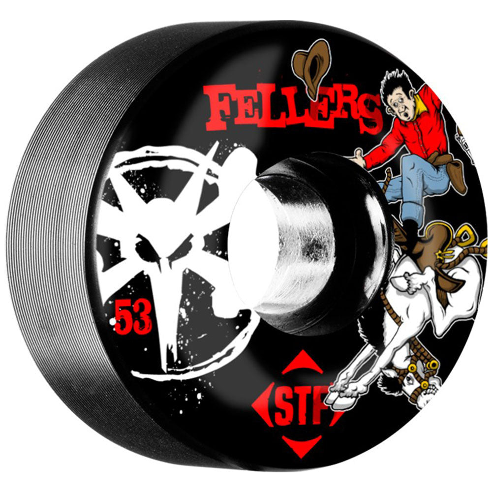 Bones STF Sierra Bronco V2 - Black - 53mm - Skateboard Wheels (Set of 4)