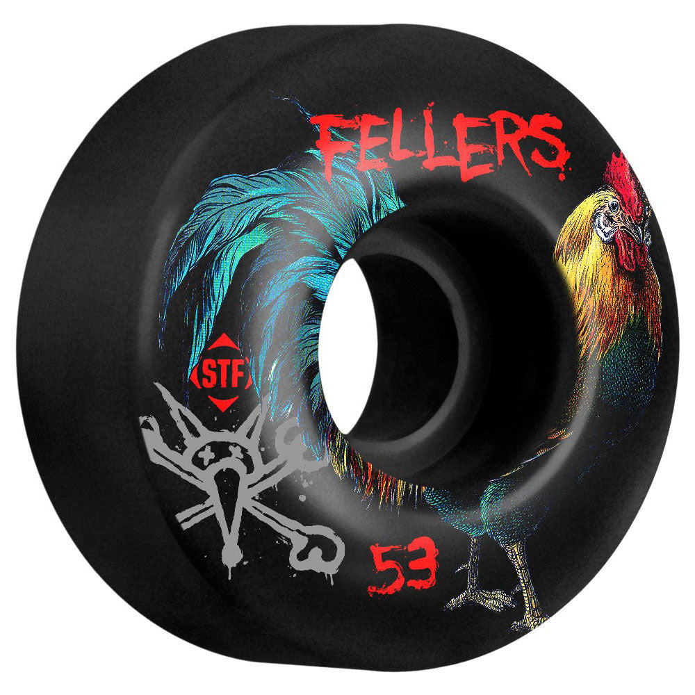 Bones STF Sierra Roost V2 - Black - 53mm - Skateboard Wheels (Set of 4)