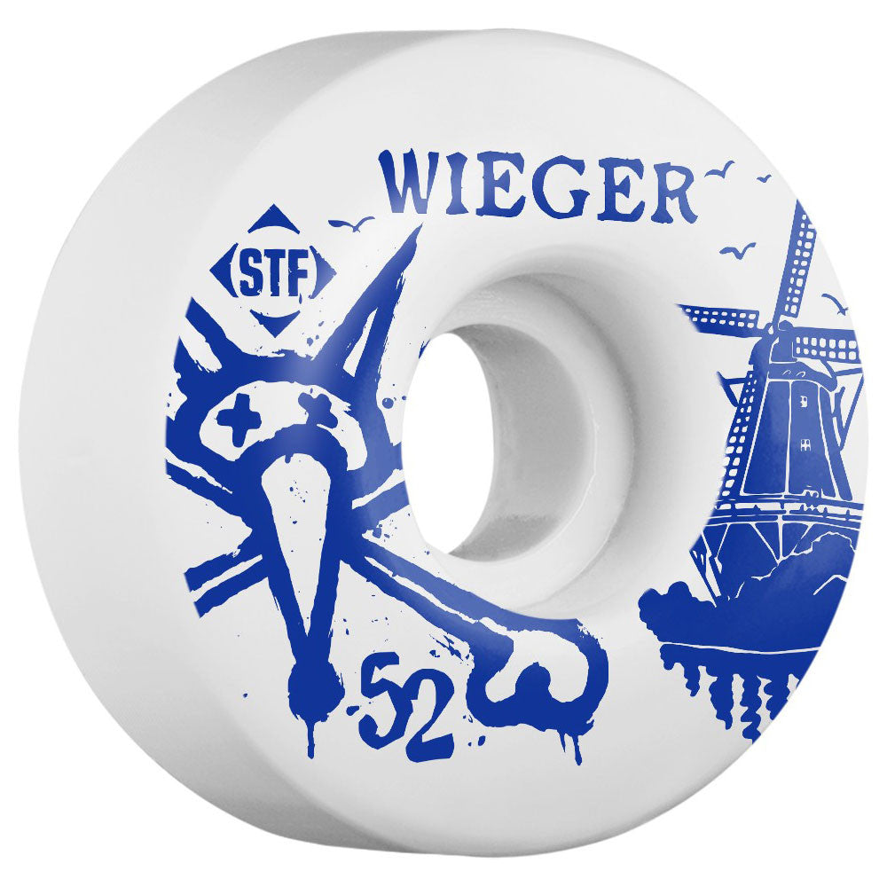 Bones STF Wieger Windmill V1 - White - 52mm - Skateboard Wheels (Set of 4)