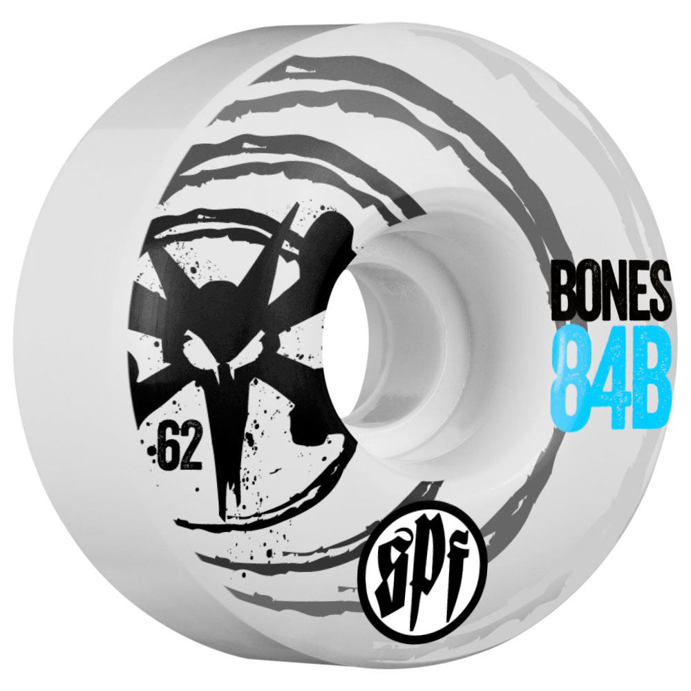 Bones SPF Sonic V4 - White - 62mm - Skateboard Wheels (Set of 4)
