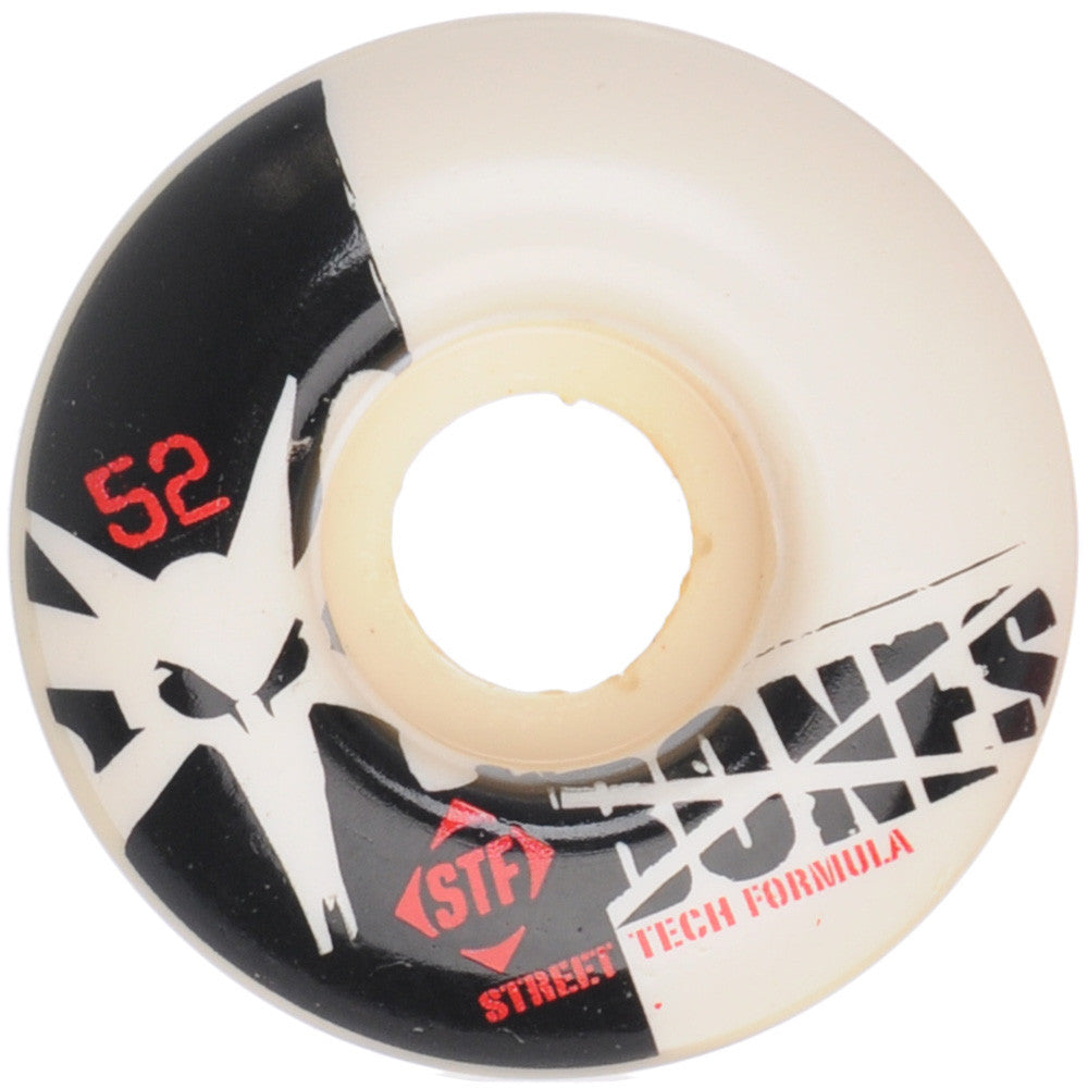 Bones STF V4 Series - Black/White - 52mm 83b - Skateboard Wheels (Set of 4)