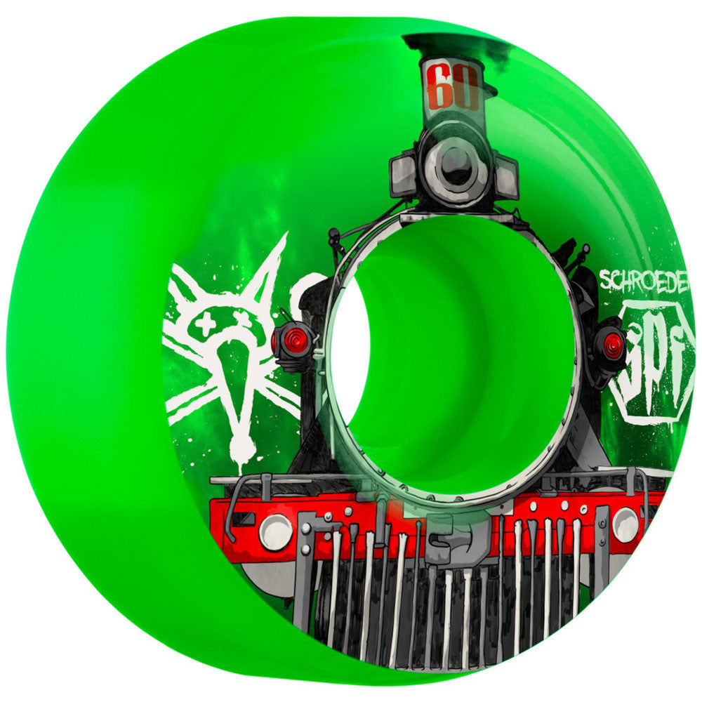 Bones Pro Schroeder Train SPF - Green - 60mm - Skateboard Wheels (Set of 4)