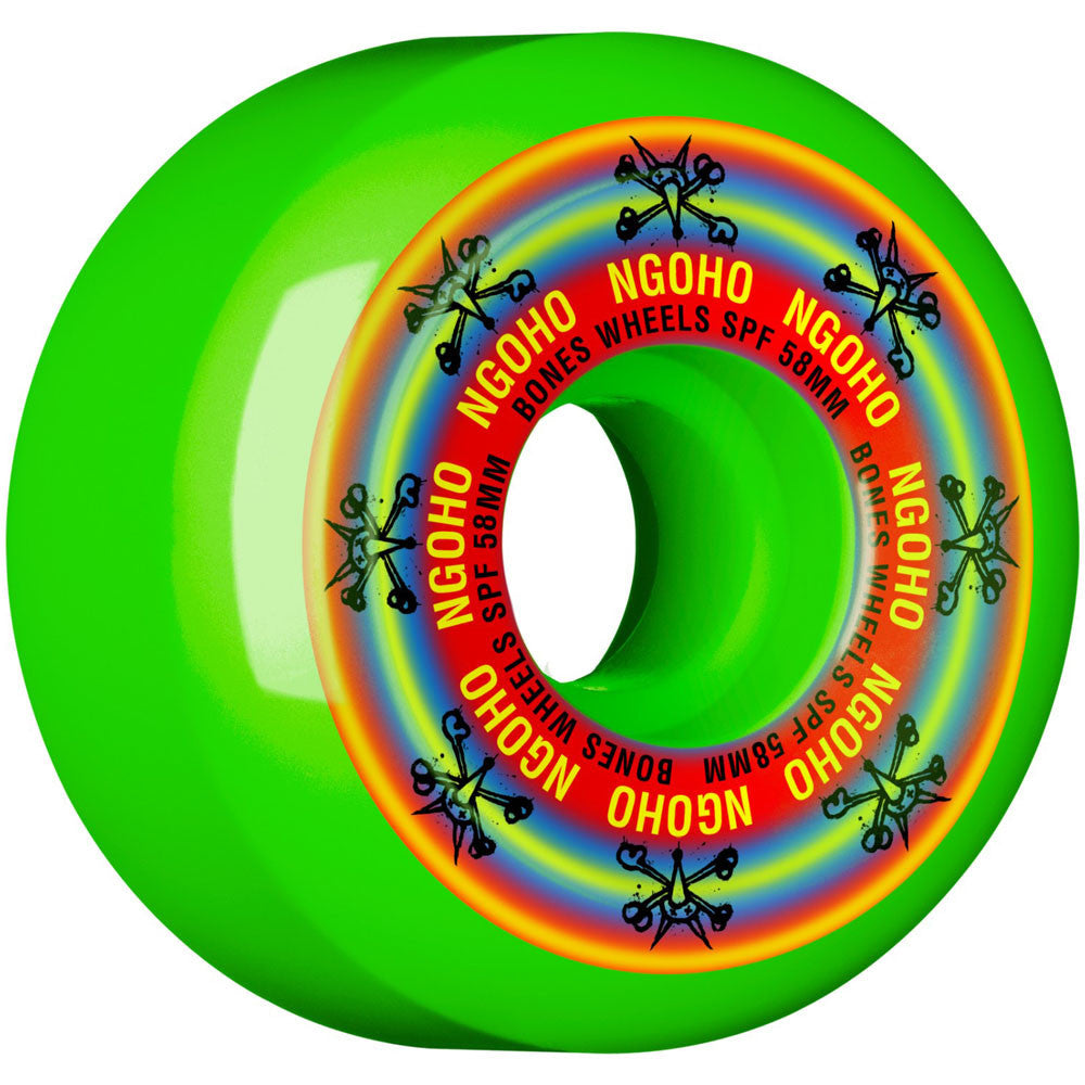 Bones Pro Ngoho Pride SPF - Green - 58mm - Skateboard Wheels (Set of 4)