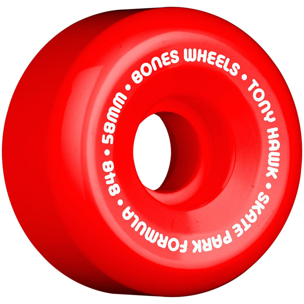 Bones Pro Hawk Mini Cube SPF - Red - 58mm - Skateboard Wheels (Set of 4)