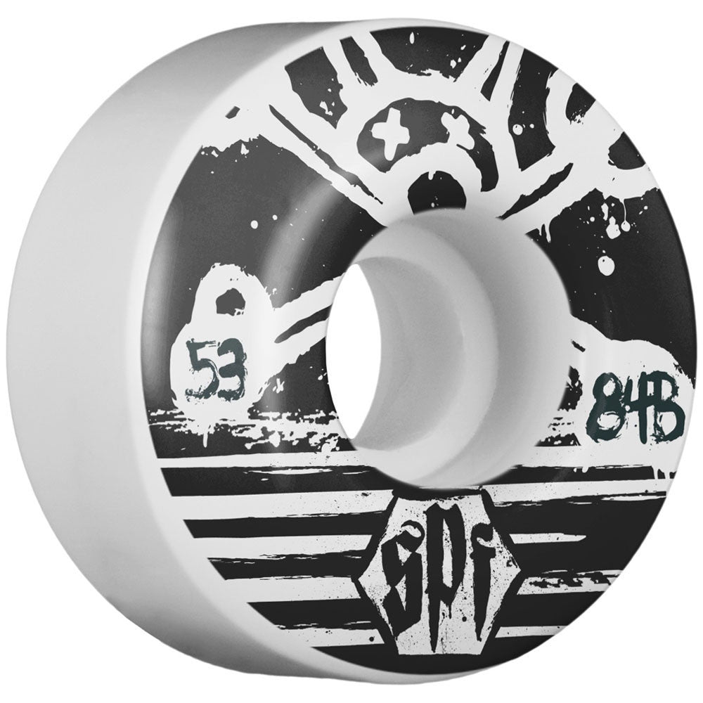 Bones Blackout SPF V4 - White - 53mm - Skateboard Wheels (Set of 4)