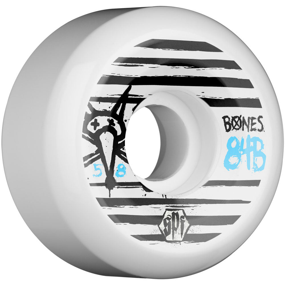 Bones Ripples SPF - White - 58mm - Skateboard Wheels (Set of 4)