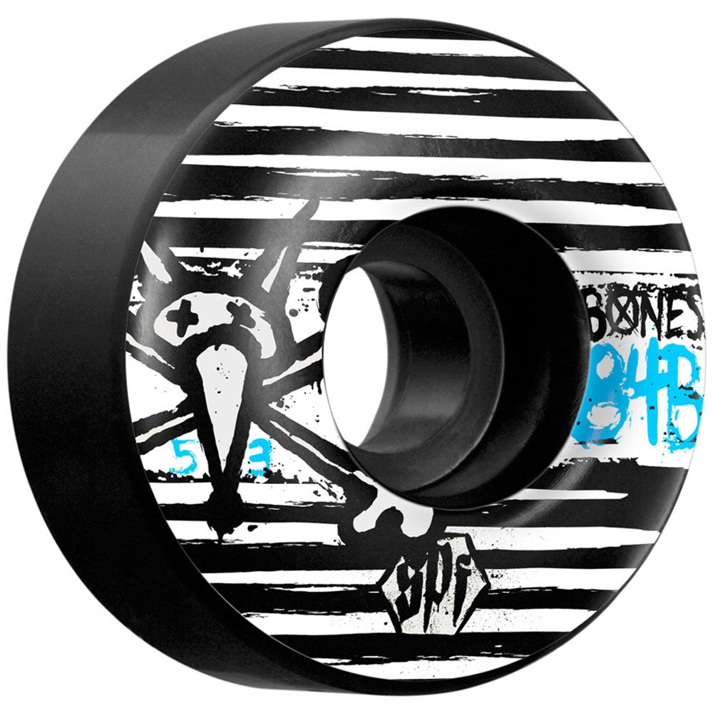 Bones Strokes SPF V1 - Black - 53mm - Skateboard Wheels (Set of 4)