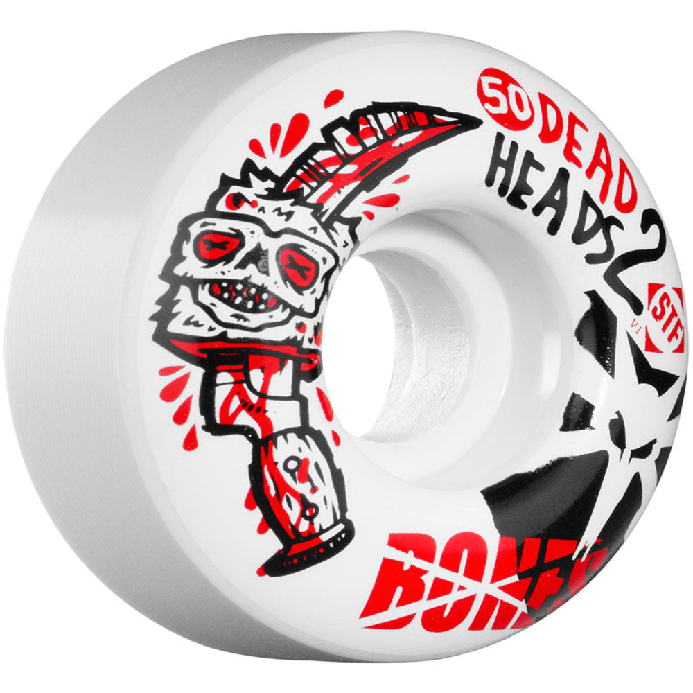 Bones Dead Heads 2 STF V1 - White - 50mm - Skateboard Wheels (Set of 4)