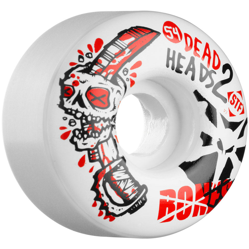 Bones Dead Heads 2 STF V1 - White - 54mm - Skateboard Wheels (Set of 4)