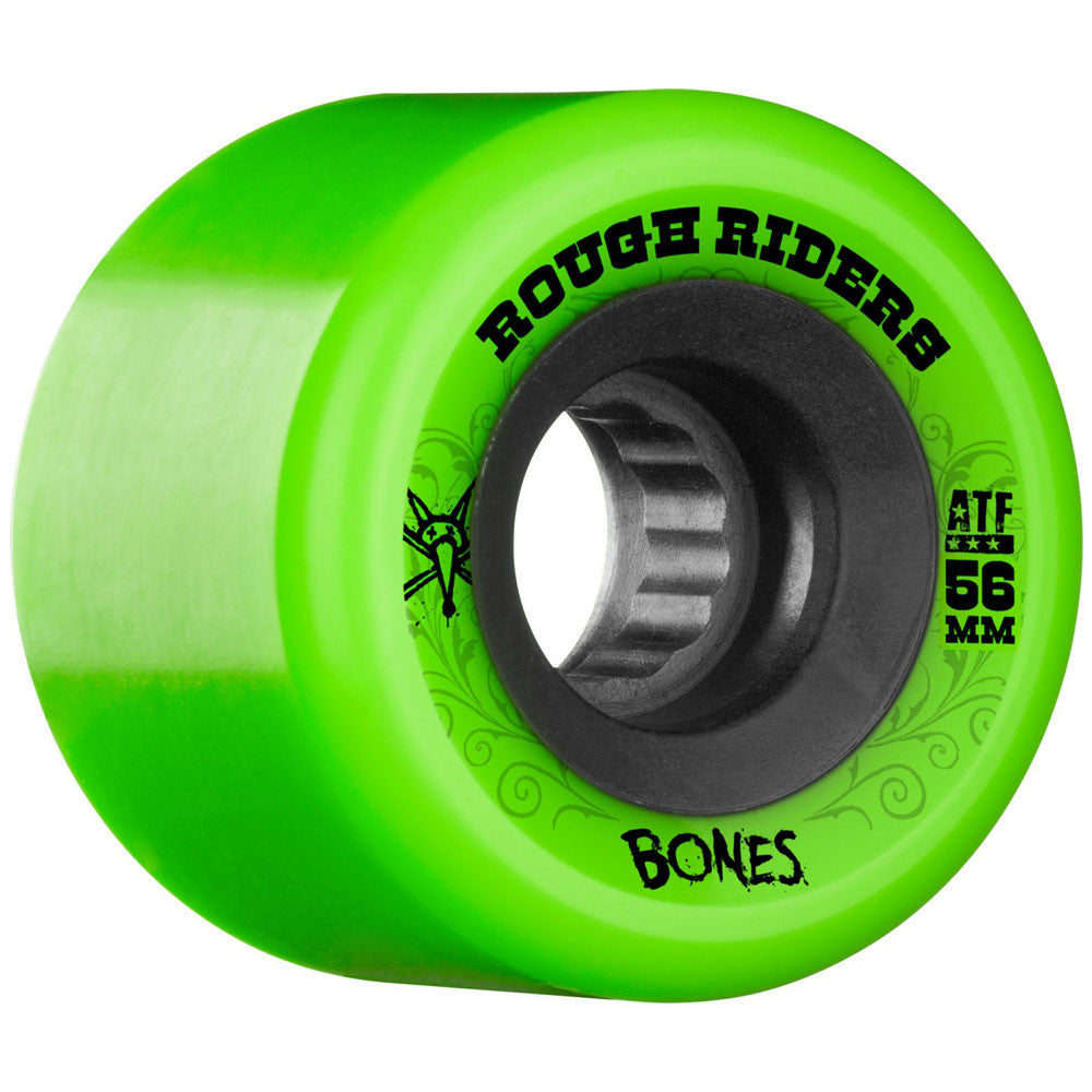 Bones Rough Rider ATF - Green - 56mm - Skateboard Wheels (Set of 4)