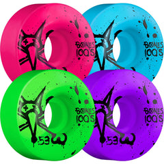 Bones 100's V1 - Assorted - 53mm 100a - Skateboard Wheels (Set of 4)