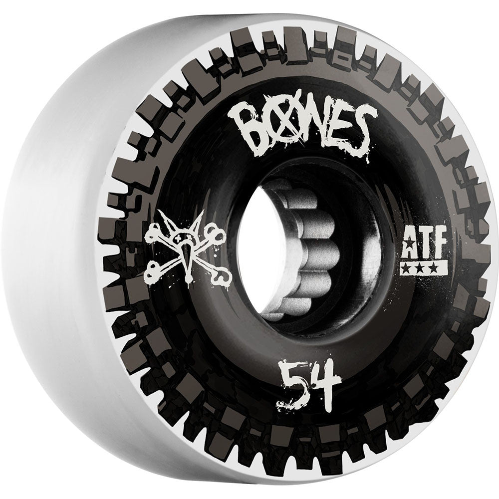 Bones Nobs ATF - White/Black - 54mm 80a - Skateboard Wheels (Set of 4)