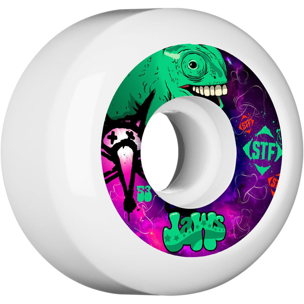 Bones STF Pro Homoki Gecko - White - 53mm 83b - Skateboard Wheels (Set of 4)