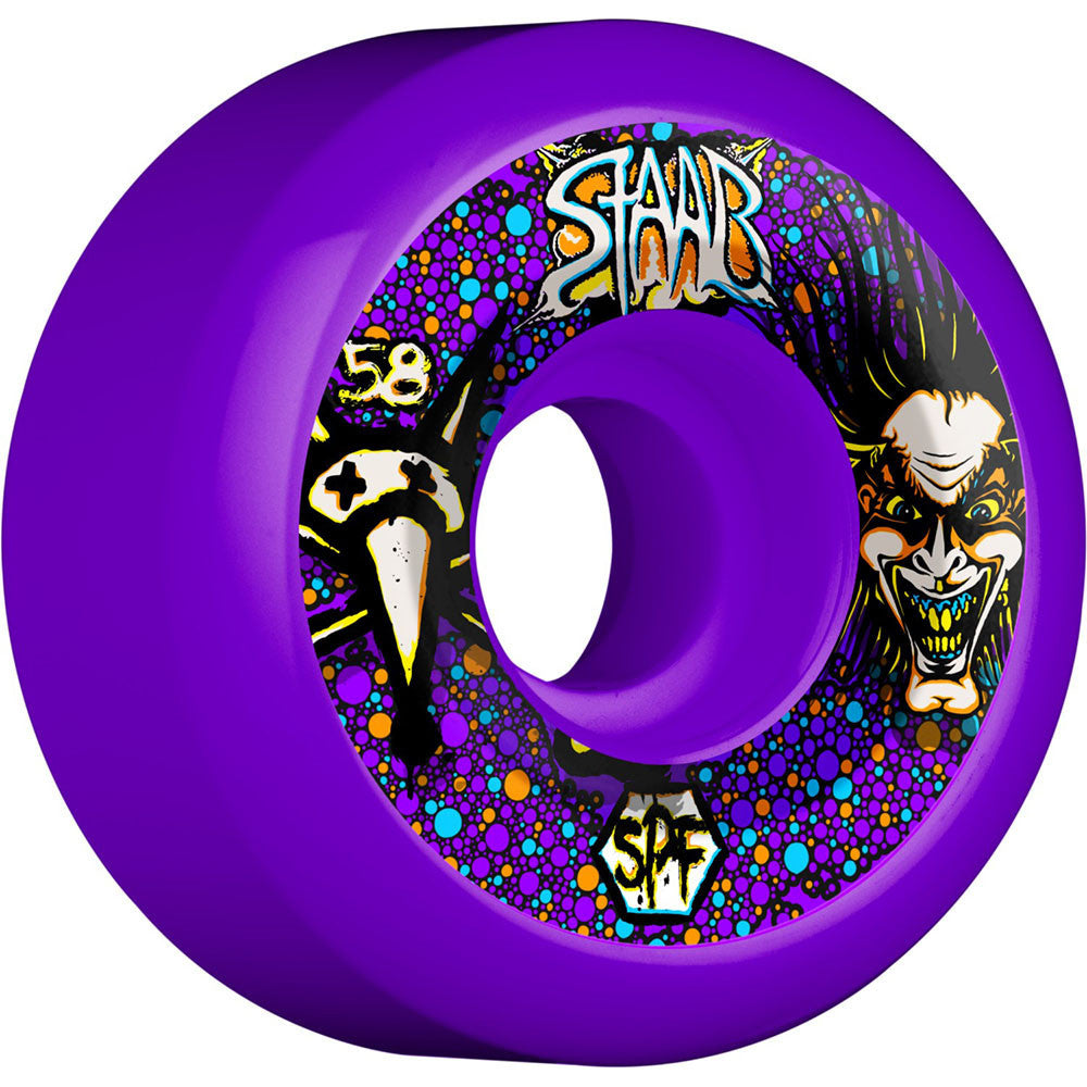 Bones SPF Pro Staab Scientist - Purple - 58mm 84b - Skateboard Wheels (Set of 4)