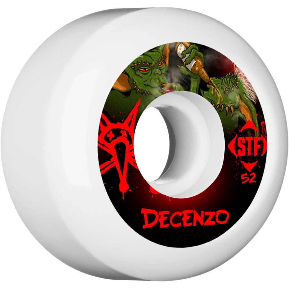 Bones STF Pro Decenzo Yum Yum - White - 52mm 83b - Skateboard Wheels (Set of 4)
