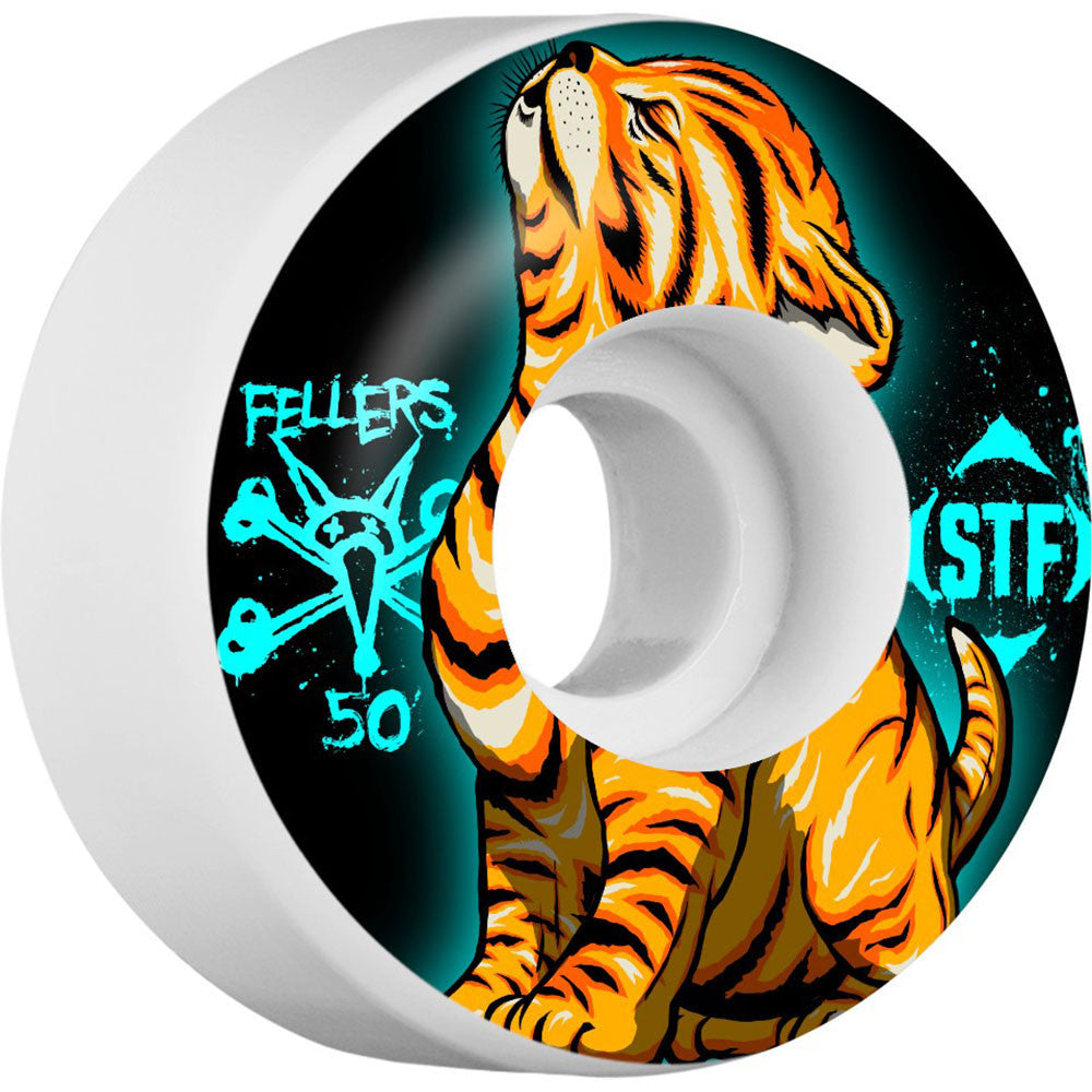 Bones STF Pro Fellers Roar - Black/White - 50mm 83b - Skateboard Wheels (Set of 4)