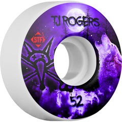 Bones STF Pro Rogers Howl - Purple/White - 52mm 83b - Skateboard Wheels (Set of 4)
