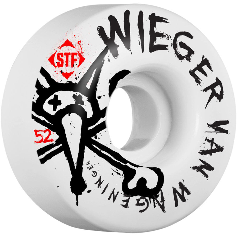 Bones STF Pro Wieger Faded - White - 52mm 83b - Skateboard Wheels (Set of 4)