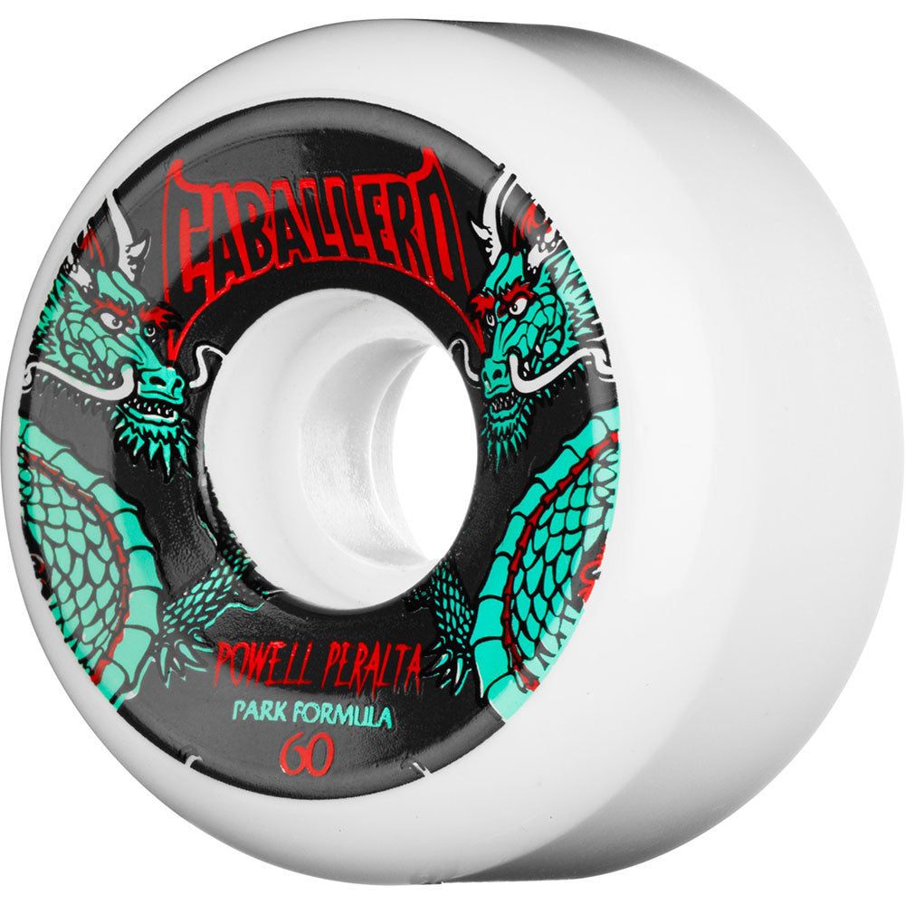 Bones SPF Pro Steve Caballero Dragon - White - 60mm 84b - Skateboard Wheels (Set of 4)