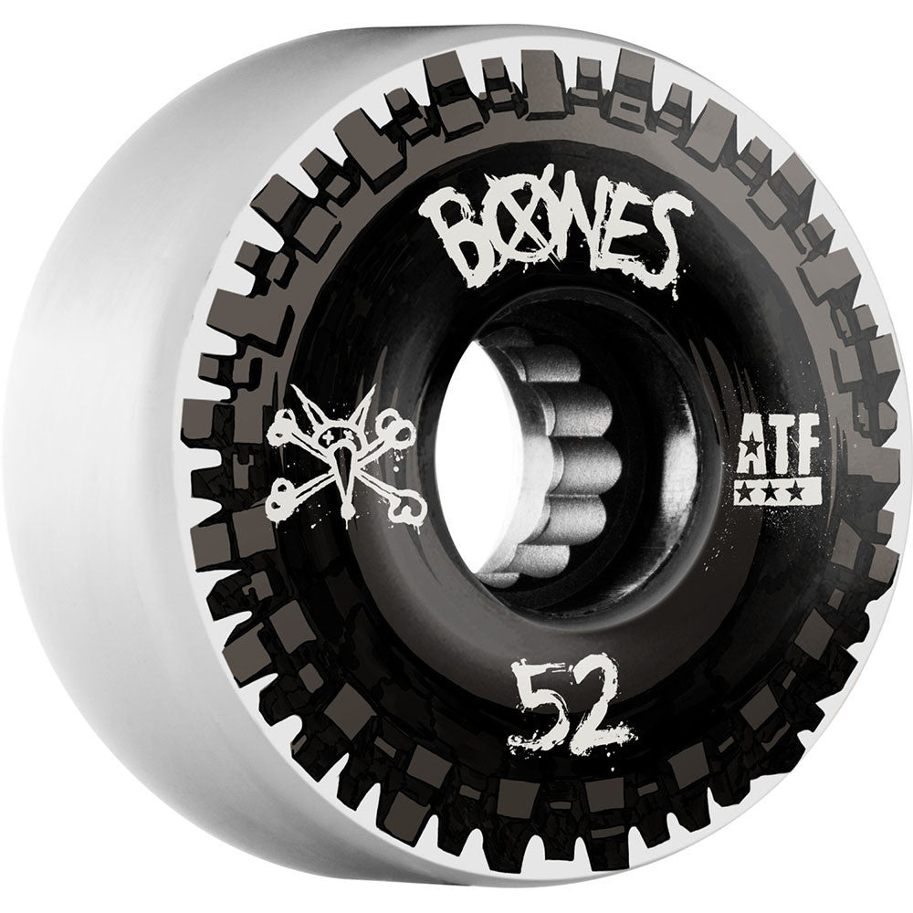 Bones ATF Nobs - Black/White - 52mm 80a - Skateboard Wheels (Set of 4)