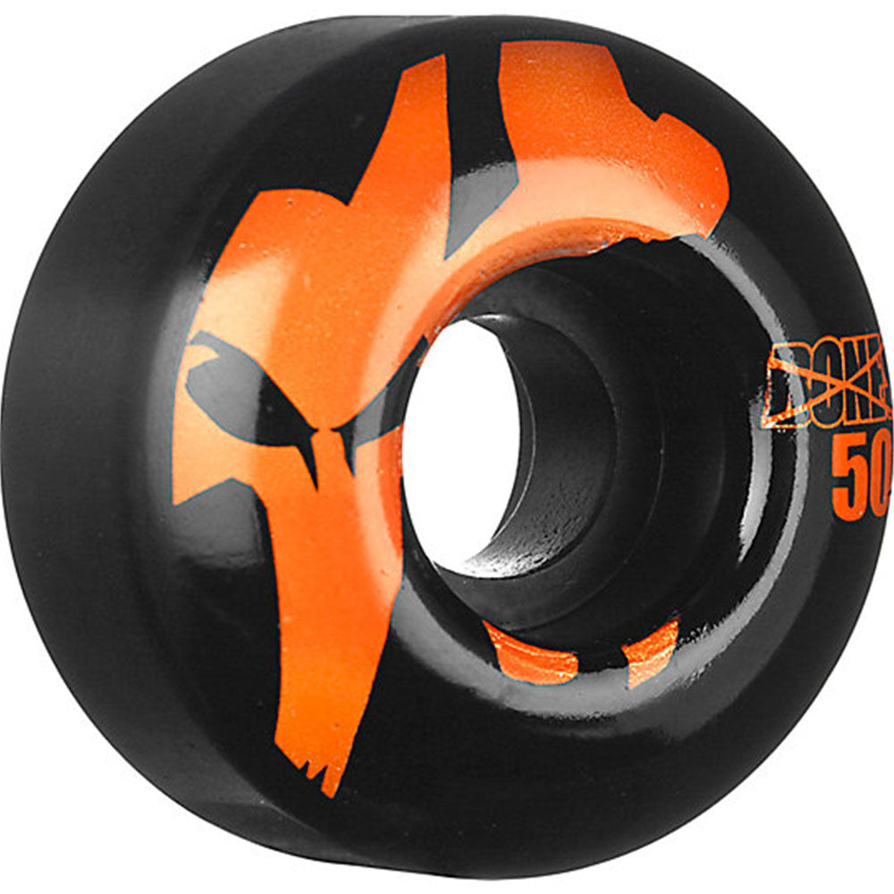 Bones 100's Icon - Black/Orange - 50mm 100a - Skateboard Wheels (Set of 4)