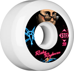 Bones STF Pro Raybourn Business - White - 53mm 83b - Skateboard Wheels (Set of 4)